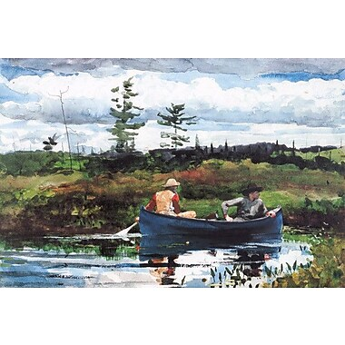 iCanvas 'The Blue Boat 1892' by Winslow Homer Painting Print on Canvas; 12'' H x 18'' W x 1.5'' D