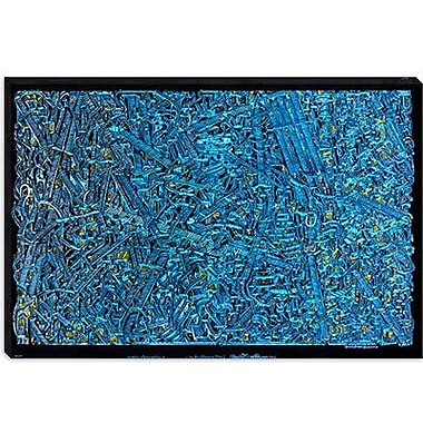 iCanvas ''The Blue Staircase Maze'' by David Russo Graphic Art on Canvas; 18'' H x 26'' W x 0.75'' D