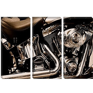 iCanvas Photography Harley Motorcycle Photographic Print on Canvas; 26'' H x 40'' W x 1.5'' D