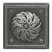 Daltile Metal Ages 2'' x 2'' Celtic Glazed Decorative Tile Insert in Polished Pewter