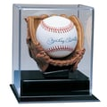 Caseworks International Soft Brown Glove Baseball Display Case; No