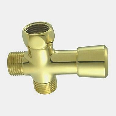 Elements of Design Shower Diverter; Polished Brass
