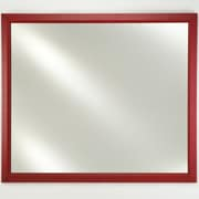 Afina Signature Framed Wall Mirror; Colorgrain Black Plain