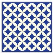 Oscar & Izzy Folksy Love 4-1/4'' x 4-1/4'' Satin  Decorative Tile in Needle Point Blue