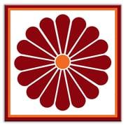 Oscar & Izzy Folksy Love 6'' x 6'' Satin Decorative Tile in Daisy May Red