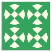 Oscar & Izzy Folksy Love 6'' x 6'' Satin  Decorative Tile in Hot Plates Green