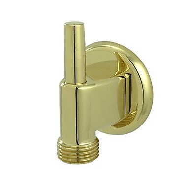 Elements of Design Brass Supply Elbow w/ Pin; Polished Brass