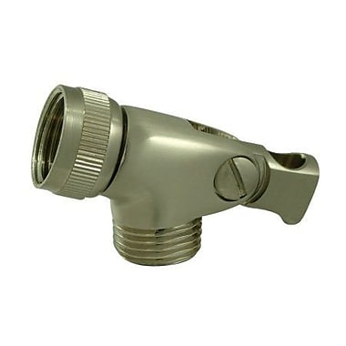 Elements of Design Brass Swivel Connector; Satin Nickel