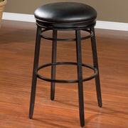 American Heritage Silvano 30'' Swivel Bar Stool; Black