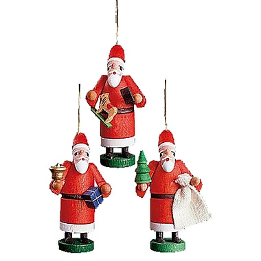 Alexander Taron Santas Ornament (Set of 3)