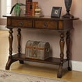 Coast to Coast Imports 2 Drawer Console Table