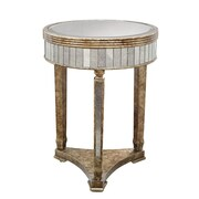 Coast to Coast Imports Mirror Accent End Table