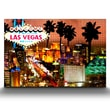 Artefx Decor Vegas Strip Lights Graphic Art on Canvas