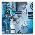 Artefx Decor Blue Divinity Painting Print on Canvas