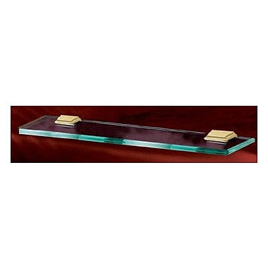 Alno Geometric 24'' x 1.75'' Bathroom Shelf; Satin Nickel