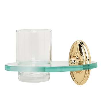 Alno Classic Traditional Tumbler and Tumbler Holder; Polished Chrome