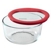 Pyrex Premium Glass Lids Round Storage Dish; 4 Cups