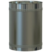 NU Steel Ferruccio Waste Basket; Pewter