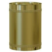 NU Steel Ferruccio Waste Basket; Gold