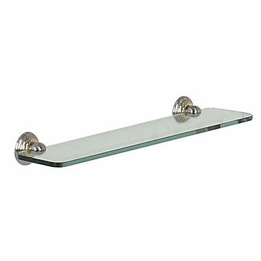 Alno Embassy 24'' W Bathroom Shelf; Polished Chrome/Gold