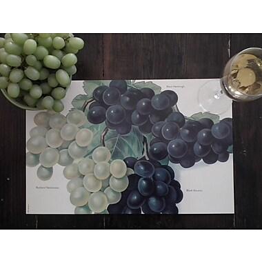 Belle Banquet Grapes Placemat (Set of 6)