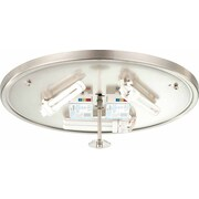 Volume Lighting Esprit 3 Light Ceiling Fixture Flush Mount; Brushed Nickel