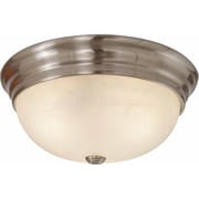 Volume Lighting 2 Light Ceiling Fixture Flush Mount; Brushed Nickel