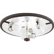 Volume Lighting Esprit 3 Light Ceiling Fixture Flush Mount; Antique Bronze