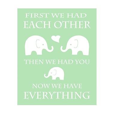 Evive Designs Elephant Typography by Ashley Calhoun Textual Art