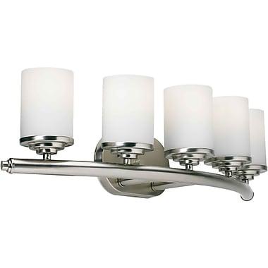 Forte Lighting 5 Light Vanity Light; Brushed Nickel / Satin Opal