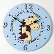 Forest Creations 18'' Giraffe Wall Clock; Sky Blue