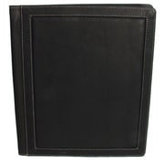 Piel Three-Ring Binder Folder; Chocolate