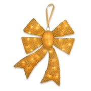National Tree Co. Pre-Lit Bow Christmas Decoration; Gold
