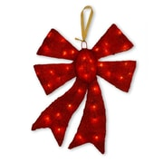National Tree Co. Pre-Lit Bow Christmas Decoration; Red