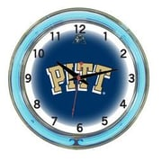 Wave 7 NCAA 18'' Team Neon Wall Clock; Pittsburgh