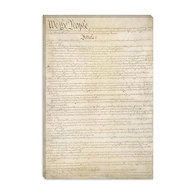 iCanvas Political 'The Constitution Document' Textual Art on Canvas; 18'' H x 12'' W x 0.75'' D