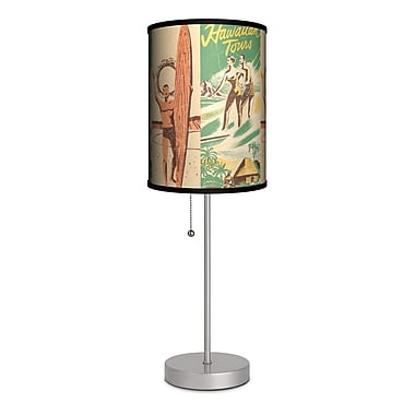 Lamp-In-A-Box Sports Surfing Hawaiian Tours 20'' Table Lamp