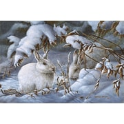iCanvas 'Winter Hares' by Wanda Mumm Painting Print on Canvas; 12'' H x 18'' W x 1.5'' D