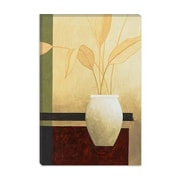 iCanvas ''Decorative Art White Vase on the Table'' by Pablo Esteban Painting Print on Canvas