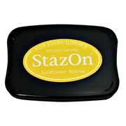 Tsukineko StazOn Color Ink Pad; Sunflower Yellow