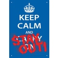 NMR Keep Calm Stay Out Tin Sign Textual Art