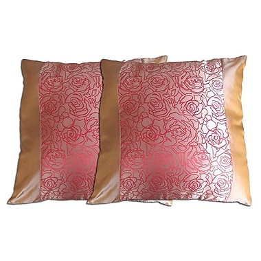 Acura Rugs Decorative Throw Pillow (Set of 2); Pink