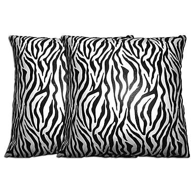 Acura Rugs Decorative Zebra Throw Pillow (Set of 2)