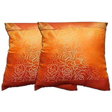 Acura Rugs Decorative Throw Pillow (Set of 2); Orange