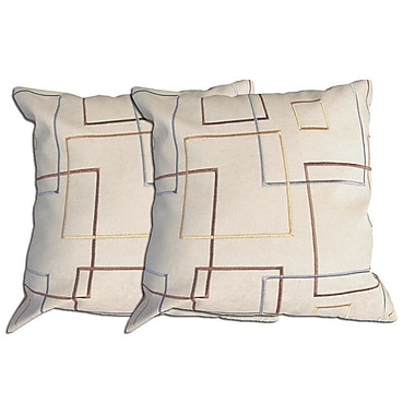 Acura Rugs Decorative Throw Pillow (Set of 2); Beige