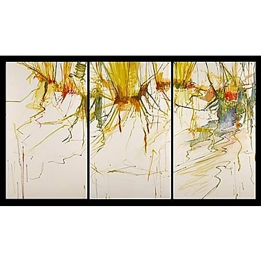 Acura Rugs 'Colorful Seasons' 3 Piece Framed Original Painting on Wrapped Canvas Set