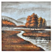 Crestview Winding Creek Painting Print on Canvas
