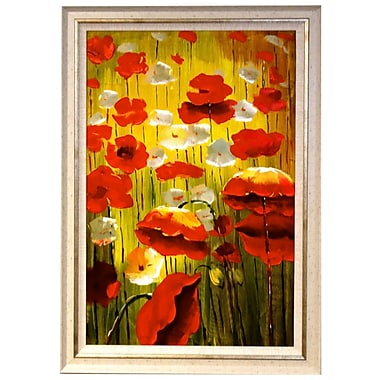 Acura Rugs Blooming Garden Framed Original Painting