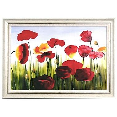Acura Rugs Tulips Framed Original Painting