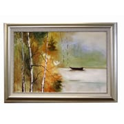 Acura Rugs River Boat Framed Original Painting
